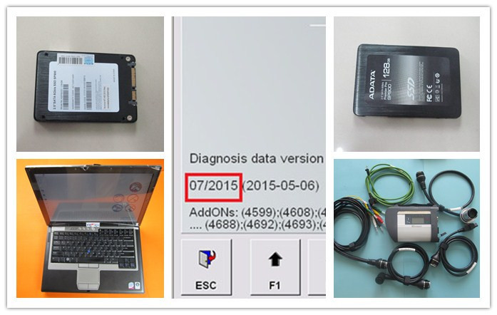 mb star c4 sd connect vediamo epc wis 2015.07 newest software 128gb ssd super speed with for dell d630 diagnostic laptop(China (Mainland))