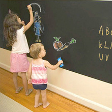 45*100cm Removable Kids Blackboard Wall Sticker Roll Chalkboard Paint Home Decor Decals Wallsticker Interior Accessories Product(China (Mainland))
