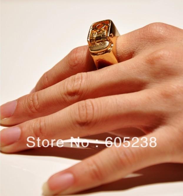 новые стимпанк ожесточенные унисекс панк-готический Зажигалки кольцо размер 7
