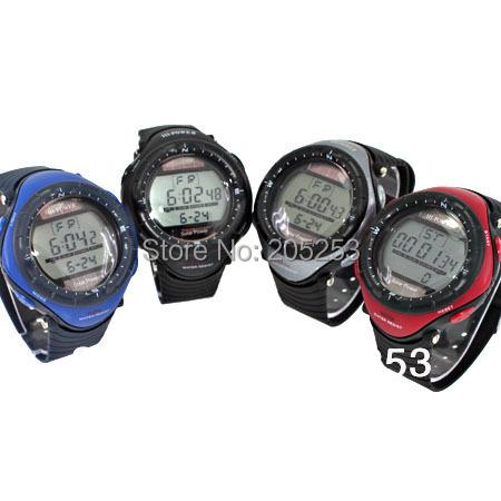 2015 Hot Sale 5pcs Mixed Color Oversized Men Solar Powered Battery Digital Sports Wristwatch Waterproof Men Gift K8M