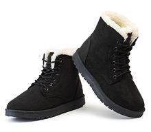الشتاء أحذية النساء الثلوج حذاء من الجلد الإناث الدافئة الدانتيل يصل أحذية من المطاط الجلد المدبوغ منصة الأحذية أفخم نعل بوتاس Mujer Invierno 2019(China)