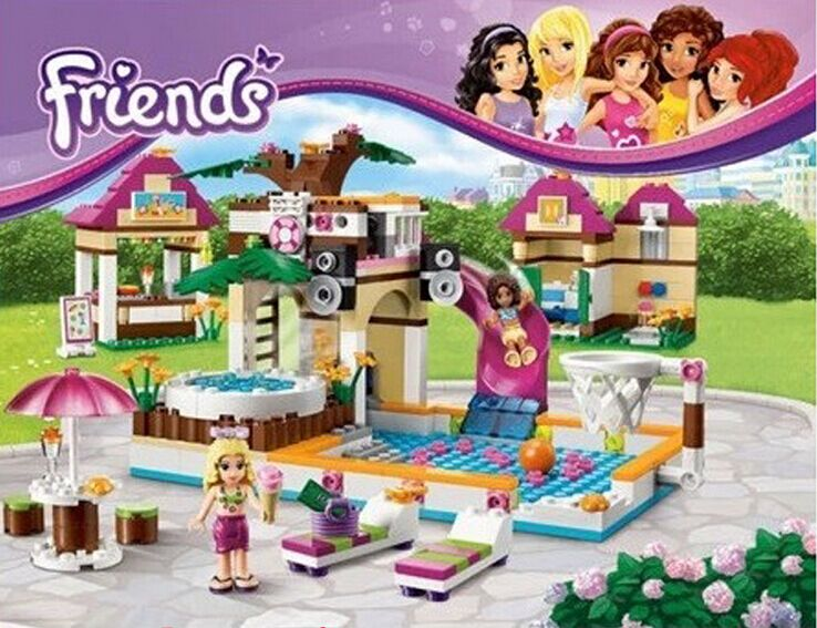 BELA10160 Building Blocks Friends Heartlake Swimming Pool Park Enlighten Educational Brick Toys for Girls Compatible with LEPIN(China (Mainland))