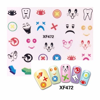 YZWLE 1 Sheet New 3D Nail Art Sticker Kids Decals DIY Decoration For Nail Oil Painting   472
