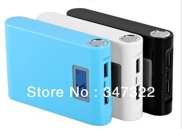 12000mah Lcd External Power Bank Backup Dual Usb Battery Charger 12000mah 1piece Lot Free Drop