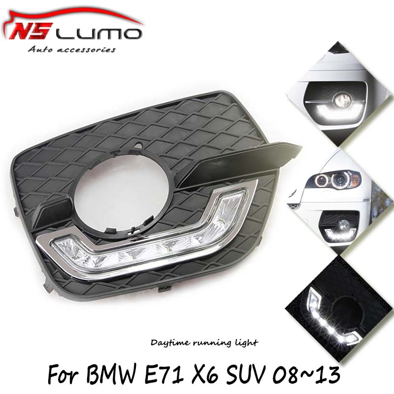 China cheap 12W high power led auto daytime running drl light for BMW E71 X6 SUV (2008-2013) waterproof led flexible drl(China (Mainland))