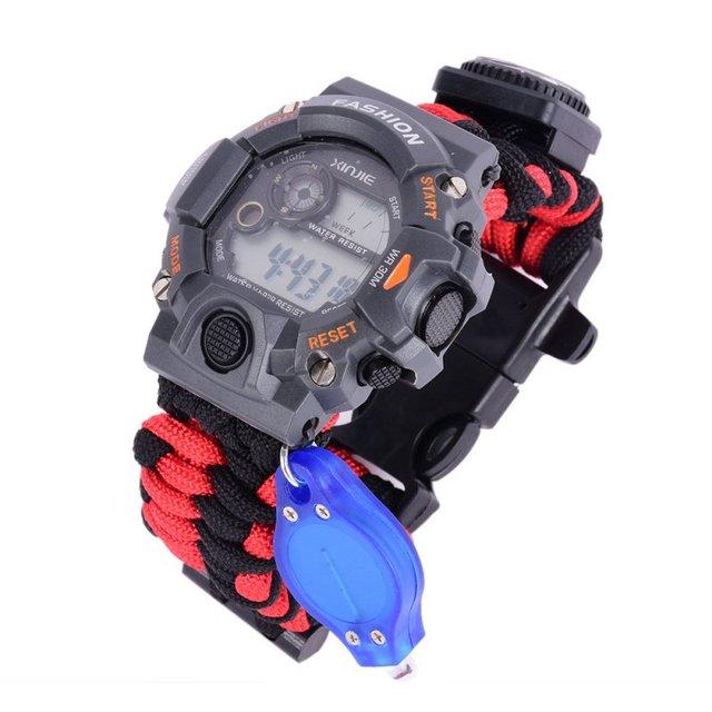 Waterproof Paracord Survival Digital Watch Bracelet