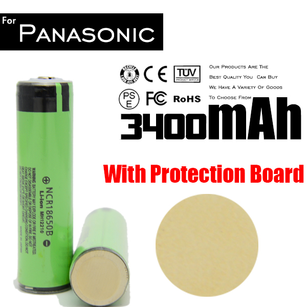 Original Protected 18650 For Panasonic 3400mah Battery 3.7v Li Ion Rechargeable Batteries !(China (Mainland))