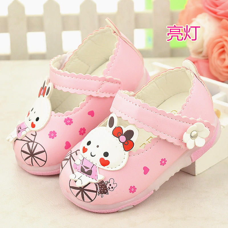 summer cartoon rabbit baby girl baby toddler shoes 0 to 18 months lovely sandals good quality birthday gift red bule white pink(China (Mainland))