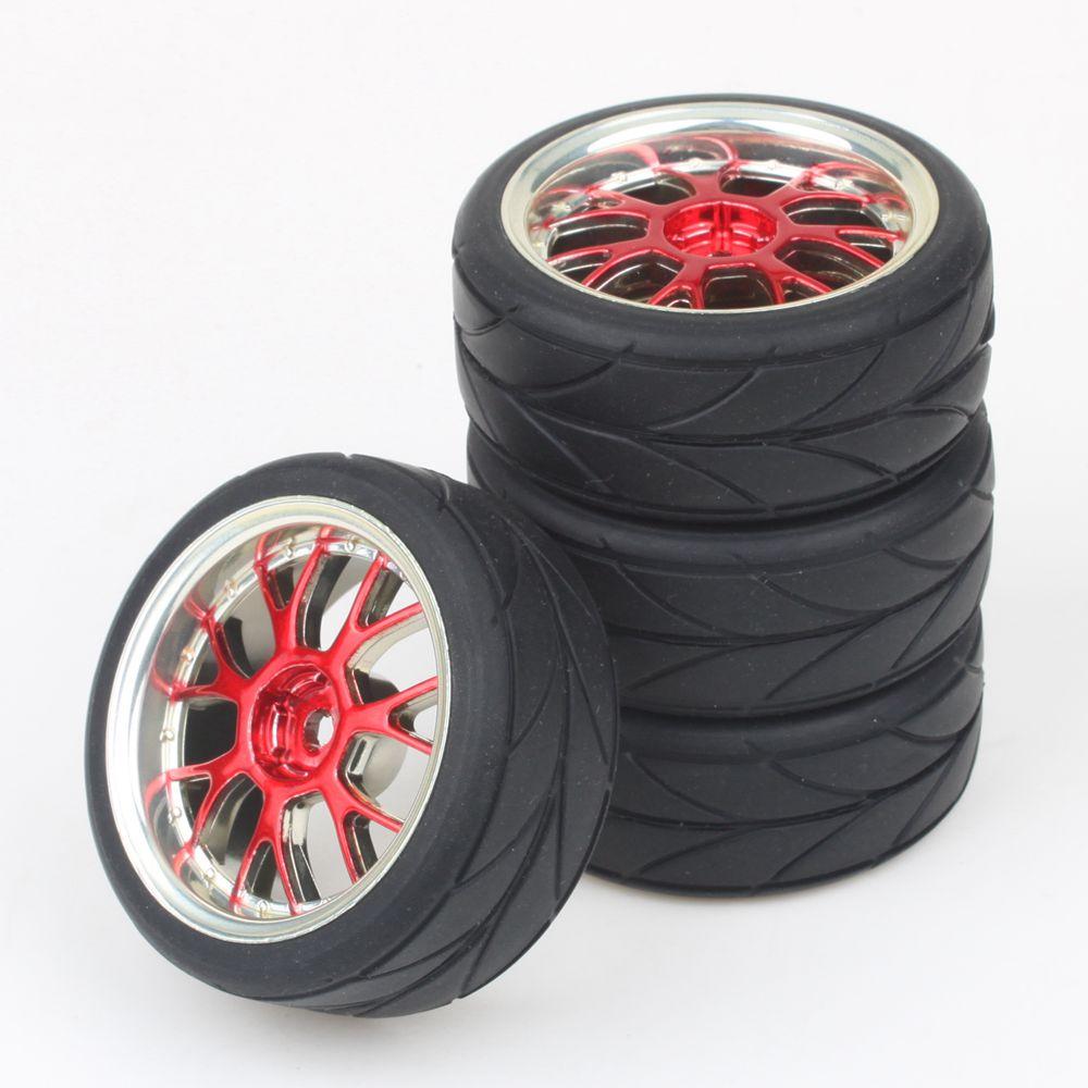 4pcs RC 1:10 Flat Racing Car Arrow Grain Tires With Y shape Hub Wheel Rim(China (Mainland))