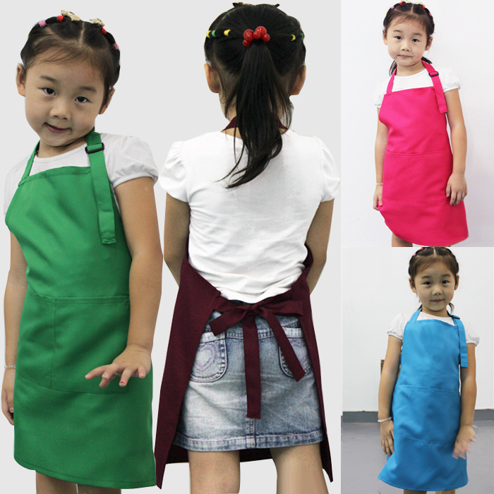 Little Chef For Kids Children Cooking Baking Tools Kitchen Dining Apron Aprons / A3570(China (Mainland))