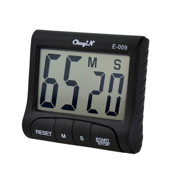 Large LCD 4 Digits Display Digital Kitchen Alarm Count Clock Up Down Timer - Black 0.33