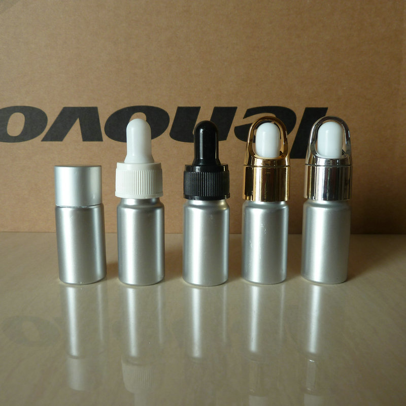 100pcs wholesale Aluminum bottle 10ml essential bottle ,aluminium silver 10ml dropper bottle ,10ml metal essential bottle