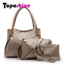 3 Bags Per Set Women Handbag Import PU Leather Fashion Lady Handbag  Messenger Bags  Bolsas Crossbody Bags Composite Bag 8575(China (Mainland))