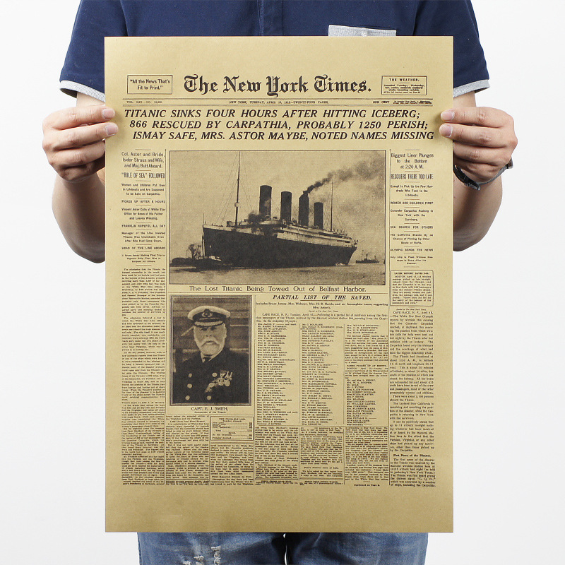 [H233] New York Times / historic moment / leather old newspaper system class / bar decorative painting PUB HOME WALL DECOR(China (Mainland))