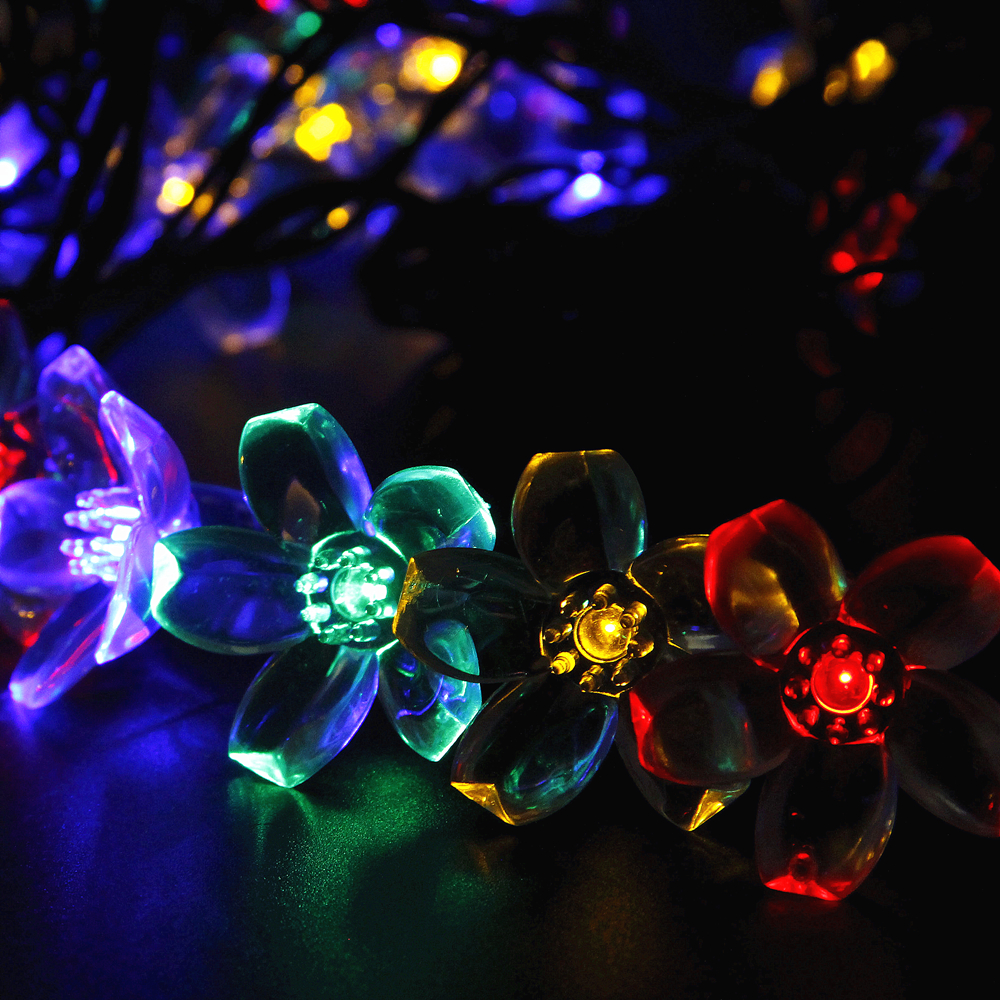Solar Fairy Holiday String Lights 21ft 50 LED Multi-color Gardens Christmas Trees Halloween Lights Decoration Indoor/Outdoor Use(China (Mainland))