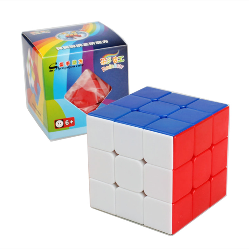 2015 NEW ShengShou Magic Cube Professional 3x3x3 Rainbow Cubo Magico Puzzle Speed Classic Toys Learning & Education For children(China (Mainland))