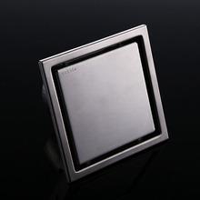 Tile Insert Square Floor Waste Grates Bathroom Shower Drain 150 x 150MM,304 Stainless steel CP290