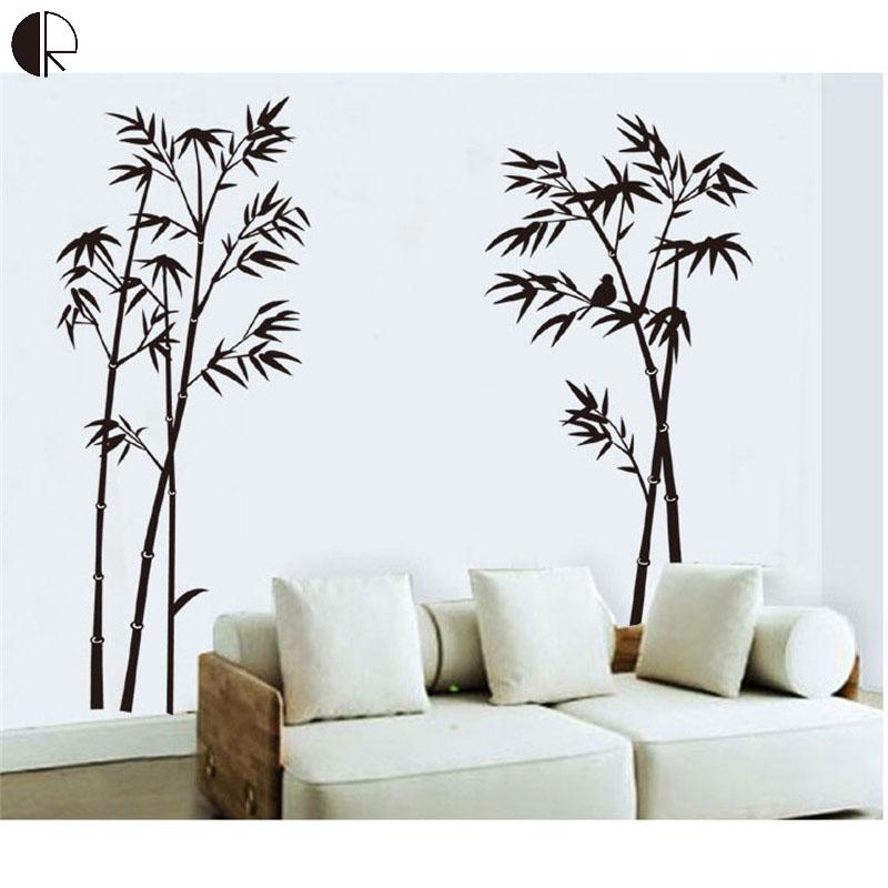Super Fashion Bamboo Wall Decor Wall Stickers Elegant DIY Removable Plastic Wall Vinyls Decal Poster Vintage Wall Art HH1379(China (Mainland))