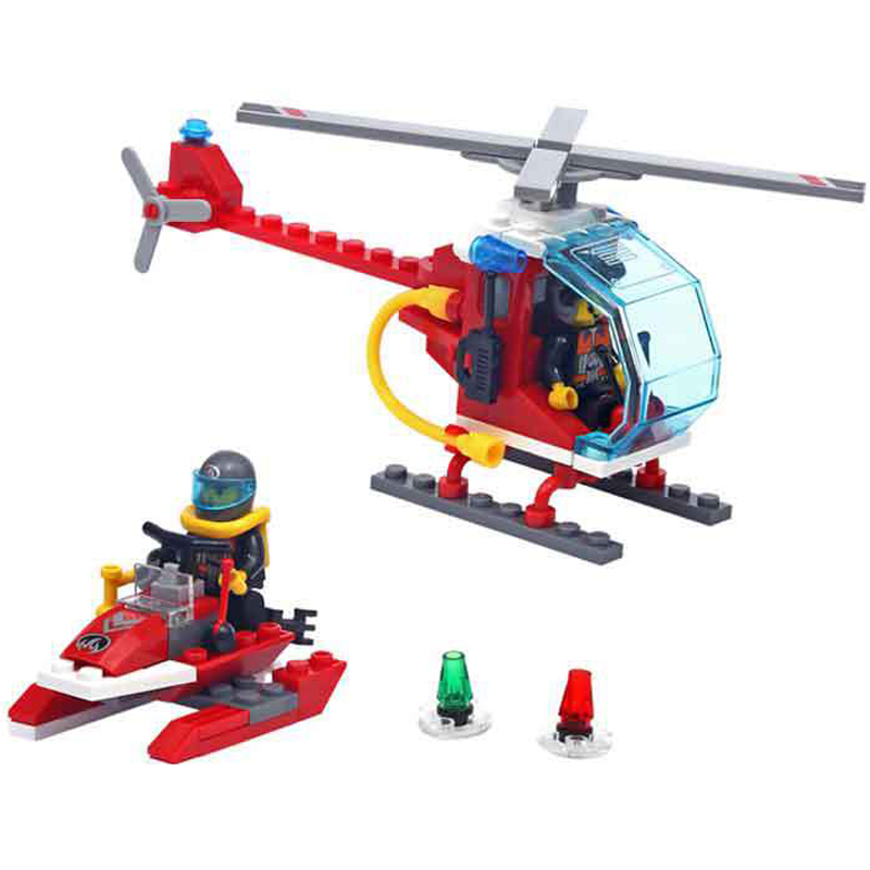 Enlightenment 902 Fire fighting series Maritime Search Team DIY minifigures building blocks Children's educational toys kid gift(China (Mainland))