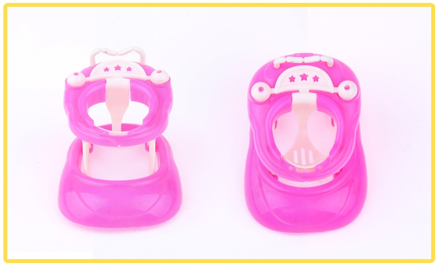 UCanaan Furnishings 5 Gadgets Handcart Grocery store Trolley Walker for Barbie doll Free delivery woman birthday reward DIY