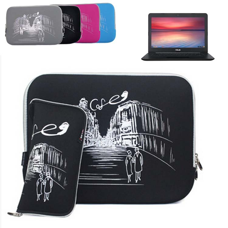 Slim Neoprene Sleeve Protective Skin Laptop Bag Computer Case Cover for ASUS Chromebook C300 C300MA 13 13.3 inch(China (Mainland))