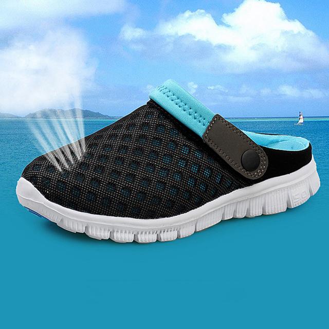 Новый бренд мужчины женщины пляжная обувь 2016 летний мода свободного покроя сверхлегкий ...