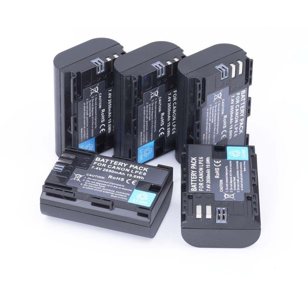 [HI-BTY] 5x Fullcoded 2650 мАч LP-E6 LPE6 Аккумулятор Для Canon 5D Mark II III 7D 60D EOS 6D Бесплатная доставка fleetwood mac fleetwood mac life becoming a landslide 2 lp