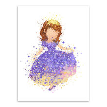 Modern Princess Cinderella Snow Cartoon Pop Movie Canvas Poster Print Wall Art Girl Kids Room Decor Painting No Frame(China)