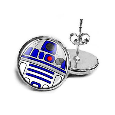 US Movie Star Wars drop stud earrings 1pcs/lot handmade jewelry Steampunk bronze for women earrings 12mm/0.47inch Dr Who<br><br>Aliexpress