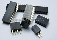 Free shipping 100pcs/lot  2.54mm 2*5  2.54mm 2X5 P 10 Pin Female Double Row Straight Header PCB DIY Connector(China (Mainland))