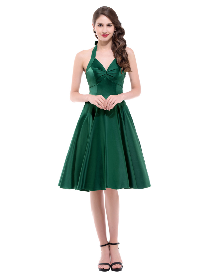 Fantastic Picture About 2016 Fashion Women Green Collar Beading Mini Dress