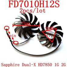 Buy Free 2pcs/lot Firstd FD7010H12S 4PIN DC12V 0.35A 75mm 39X39X39mm Sapphire Dual-X HD7850 1G 2G graphics card fan for $8.78 in AliExpress store