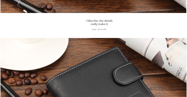 Новое поступление из натуральной кожи мужской кошельки коричневый конструктор засов кармана монету держателя карты кошелек бесплатная доставка