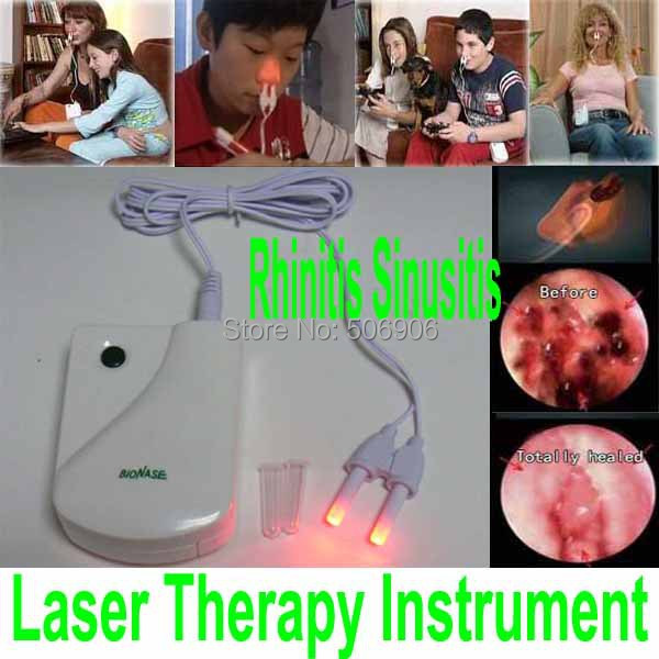 New BioNase Nose Rhinitis Sinusitis Therapy Massage,Hay fever,Low Frequency Pulse And Laser therapy instrument FreeShipping(China (Mainland))