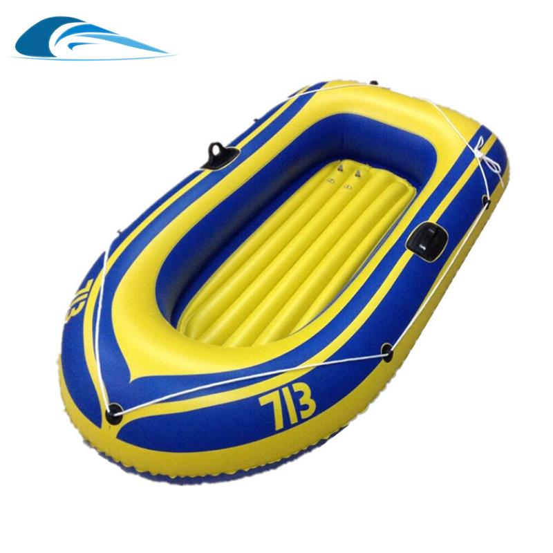 2016 New 1/ 2 person Inflatable Fishing Boat Thickening PVC Boat Rubber Boat Kayak Canoe with Air Pump Alumnium Oar Package Kit