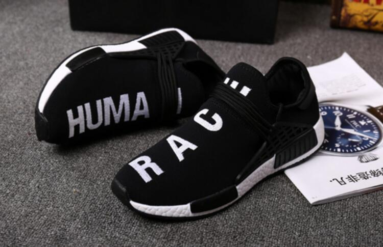 Top Fashion Breathable Lace-up Fashion New Man And Unisex Pu Zapatillas Deportivas Mujer Human Race Casual Shoes Unisex Socks