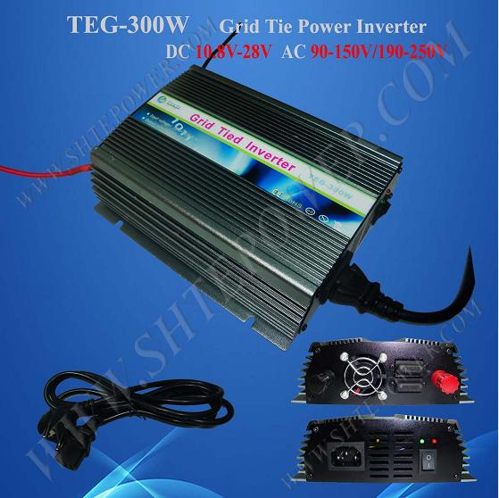 DC 10.8-28V to AC 220V 230V 240V Grid Connect Solar Inverter 300W Micro Inverter(China (Mainland))