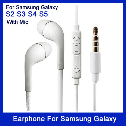 High quality good sound Brand New Headphone headset With Volume&Mic Earphone For Samsung Galaxy S2 S3 S4 S5 and Android phones(China (Mainland))