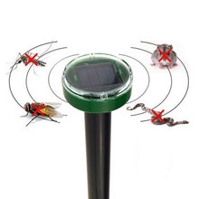 2016 New Useful Solar Power Eco-Friendly Ultrasonic Gopher Mole Snake Mouse Pest Reject Repeller Control for Garden & Yard CA1T(China (Mainland))