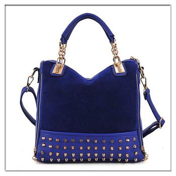 Fashion Hot Bag Rivet Package Stitching Flannel Bag Shoulder Bag Handbag Drop Shop