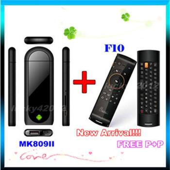 MK809 II Bluetooth Dual Core Mini PC Android 4.4.2 TV BOX With F10 Deluxe Wireless Keyboard RK3066 8GB ROM HDMI TV Box WIFI