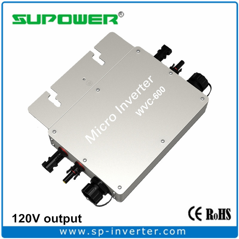 DC to 120V AC Waterproof Solar Power Micro Inverter 600W for USA, South American Solar Home System(China (Mainland))