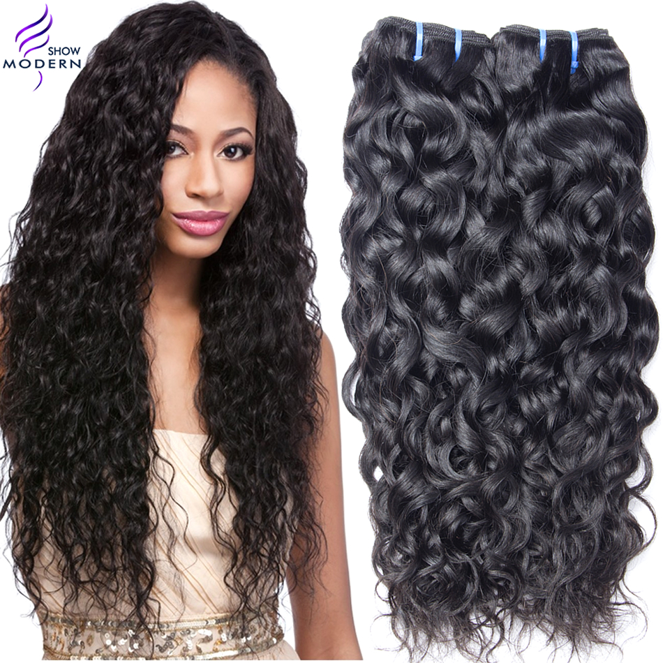 Гаджет  Brazilian Virgin Hair Water Wave Curly 4bundles Human Hair Extensions Modern Show Hair Brazilian Ocean Wave virgin hair Wet Wavy None Волосы и аксессуары
