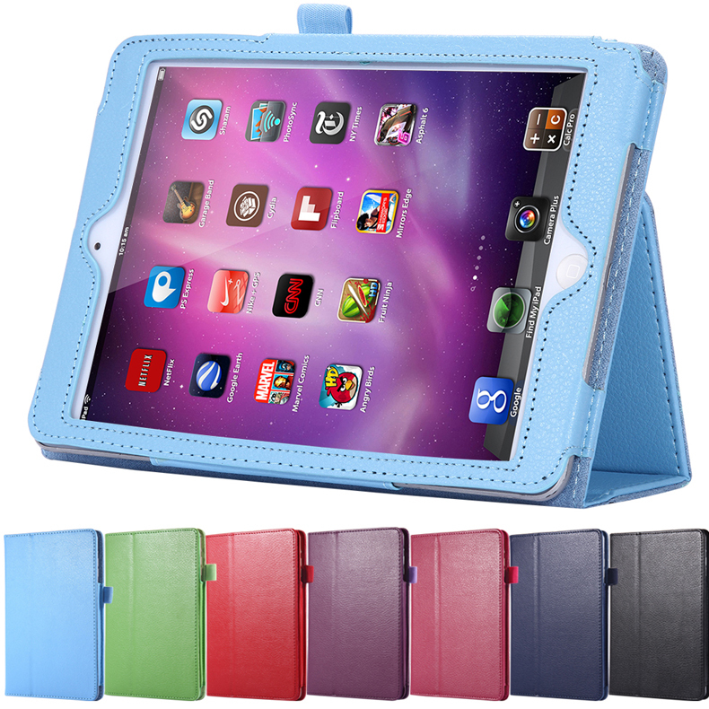 2016 Deluxe Flip Stand Leather Case For iPad 2/3/4 Fashion Wallet Lychee Book Pattern Flexible Smart Stand Covers For iPad 4 3 2(China (Mainland))