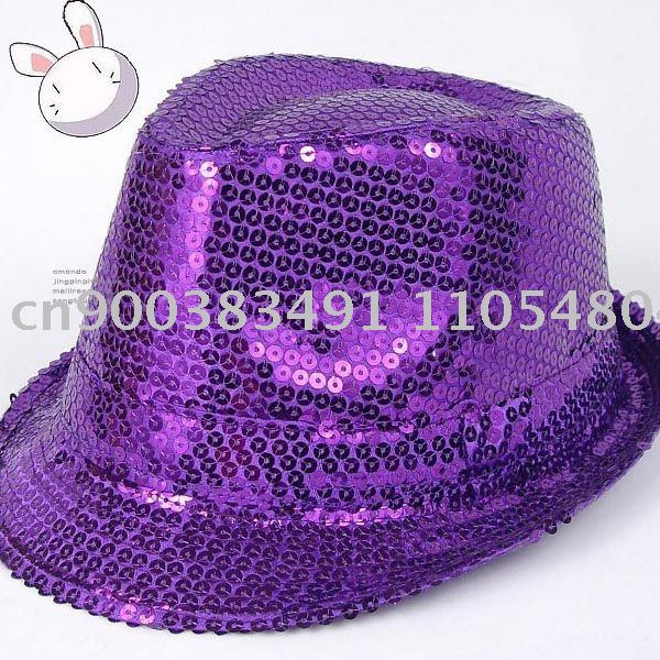 Summer fashionable classical Sequins individuality acting indispensable hat\Each color 40PCS + EMS Free shipping(China (Mainland))