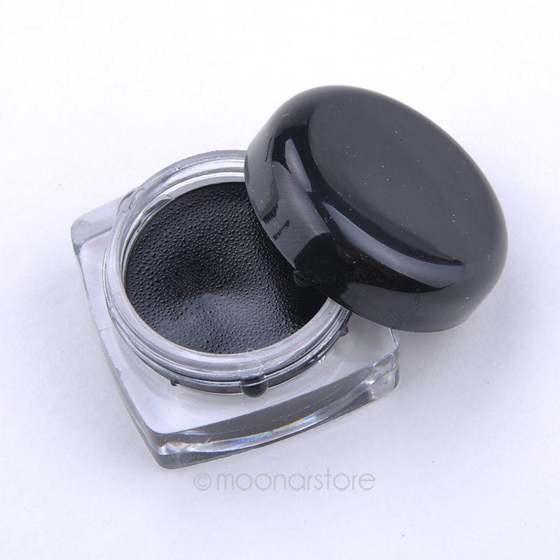 Newest Arrival High Quality Beauty Waterproof Eyeliner Gel Black Eyeliner + Makeup Brush PMHM541P50(China (Mainland))