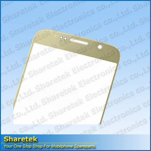 Front Glass Lens Gold Flex Cable for Samsung Galaxy S6 Mobile phone parts(China (Mainland))