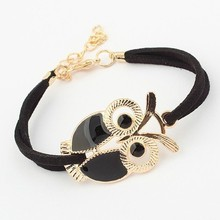 Brand Design Hot Sale Fashion Luxury Lovers Vintage Lovely Totem Owl Bracelets Jewelry For Women Wholesale Free Shipping PT36(China (Mainland))