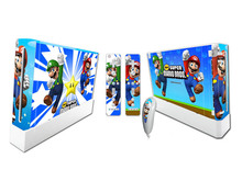 2016 Factory Price Vinyl Decal Skin Stickers + 2pcs Controller Skins For Wii(China (Mainland))