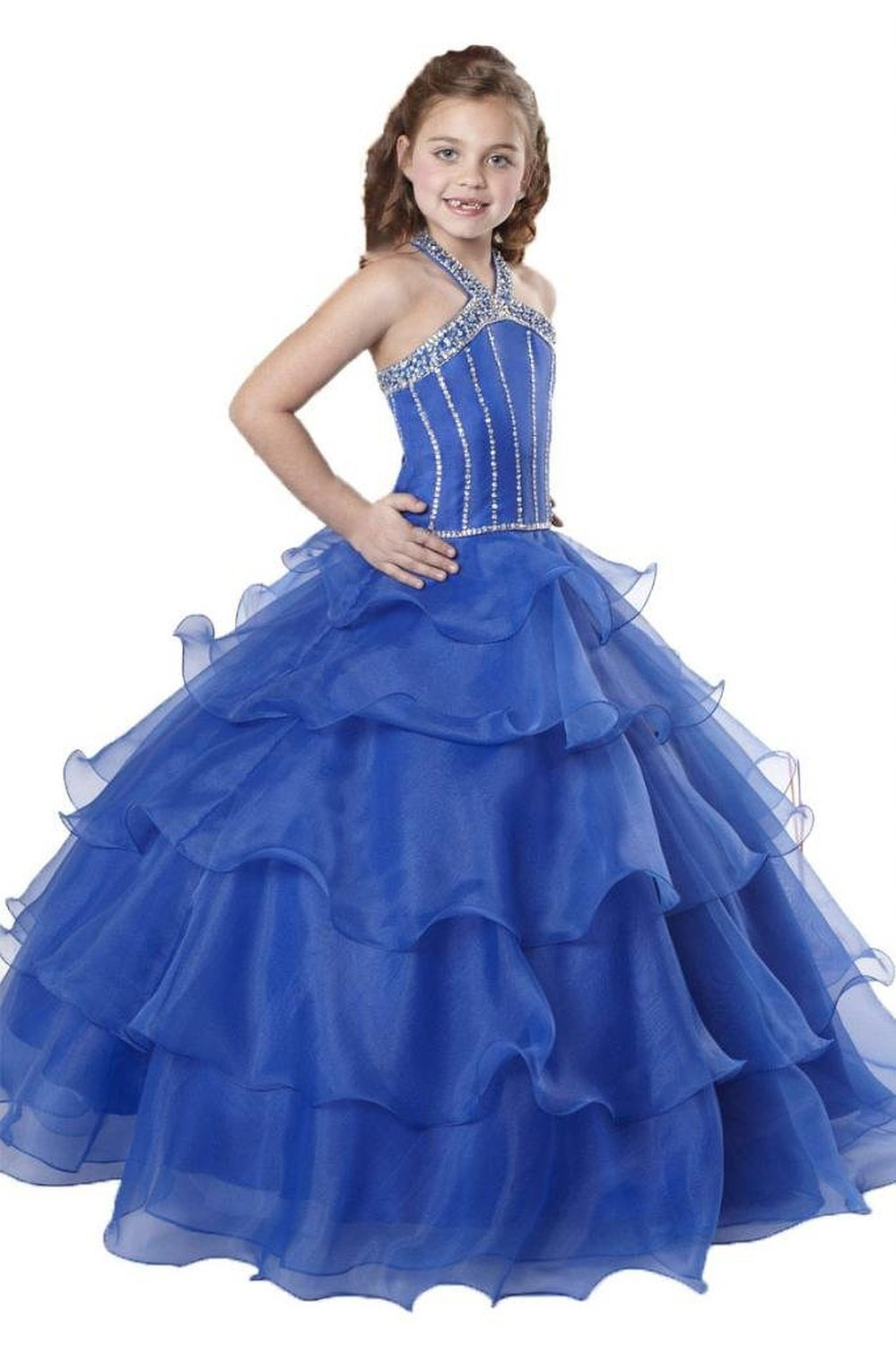 2016 classic flower girl royal blue DRESS OCCASION PARTY ...